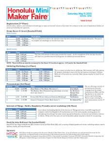 event schedule_050715